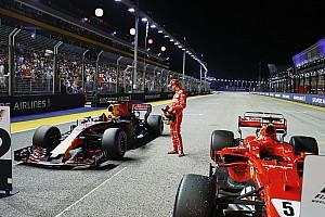 Forma-1 Motorsport.com hírek Videón, ahogy Vettel kiszúrja a Ferrari elemet a Red Bullon