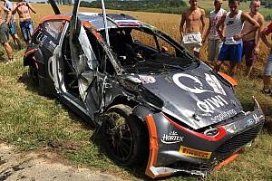 ERC Отчет о секции Буфье вышел в лидеры польского этапа ERC, Лукьянюк перевернулся