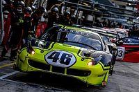 Valentino Rossi se divierte con el Ferrari 488 GT3 en Misano
