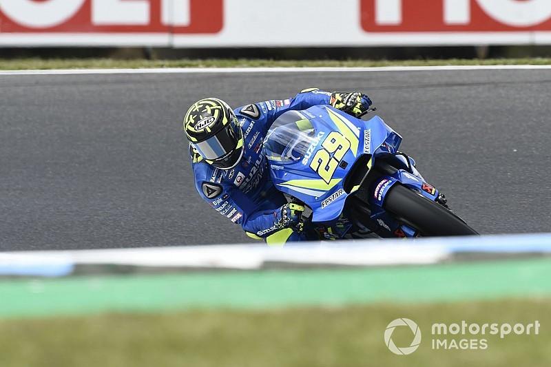 Australian MotoGP: Iannone tops morning warm-up