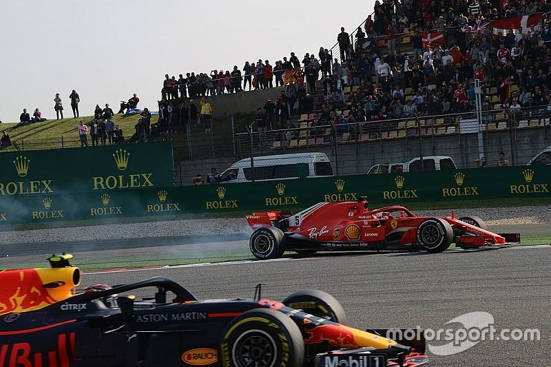Відео: аварія Ферстаппена та Феттеля на Гран Прі Китаю