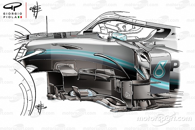 Tecnica Mercedes: ecco la rivoluzione dei flussi della W10 per cercare le prestazioni