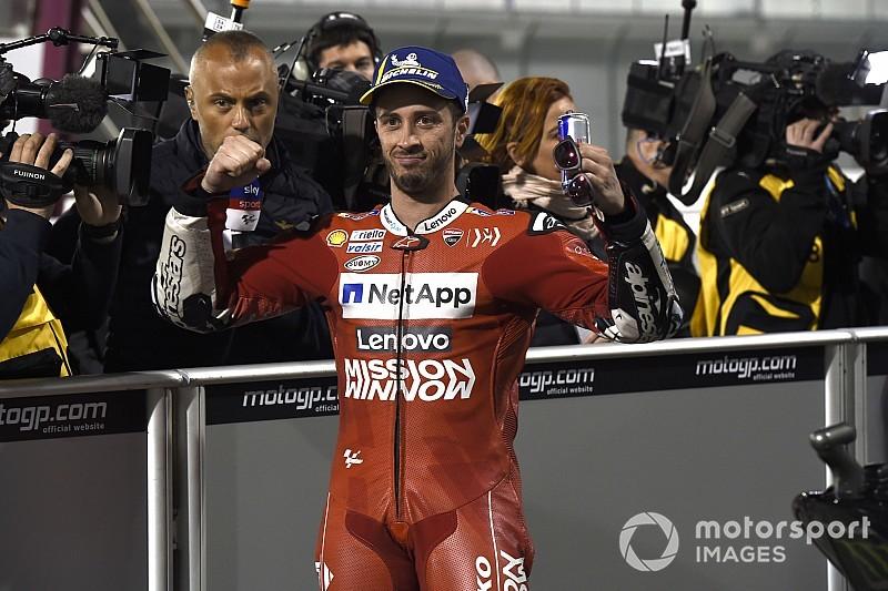 Dovizioso egy leheletnyivel nyert Marquez előtt Katarban, Crutchlow Rins előtt harmadik, Rossi a TOP 5-ben