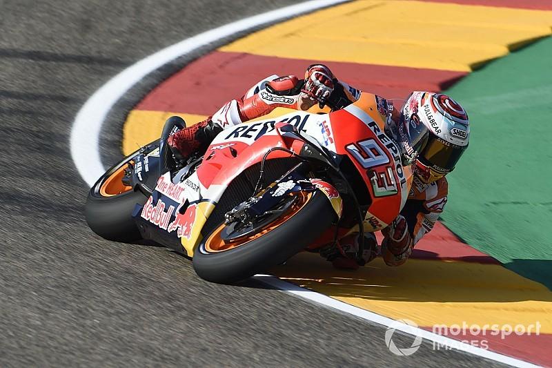 Aragon, Libere 2: Marquez risponde alle Ducati, le Yamaha beccano 1