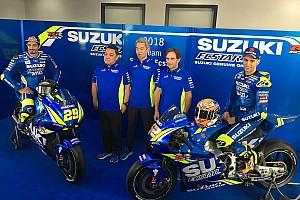 MotoGP Noticias Suzuki presentó su moto para la temporada 2018 de MotoGP