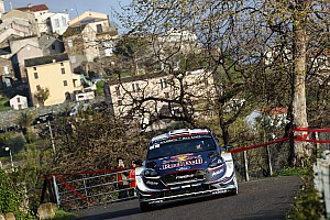 WRC Leg report Corsica WRC: Ogier takes early lead, Loeb crashes