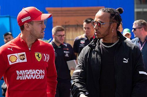 """Hamilton, Vettel'e 2021'de """"pozitif bir şey"""" çıkmasını umuyor"""