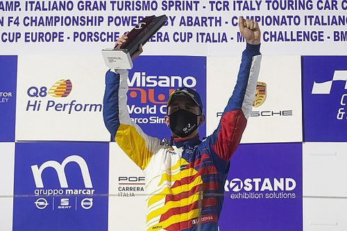 """Carrera Cup Italia, Cerqui raggiante dopo Misano: """"Merito di un grande lavoro"""""""