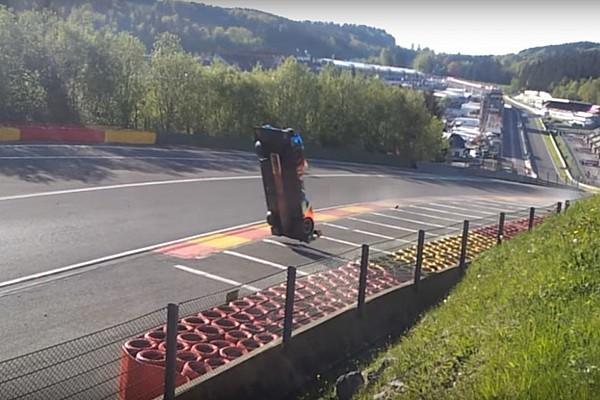 Video: Así fue el terrible accidente de Isaakyan en Spa