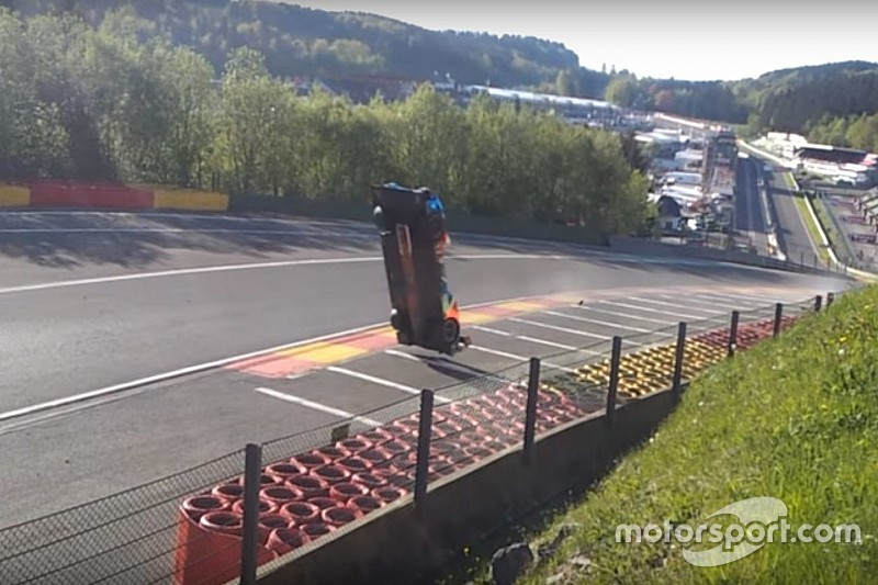 video l 39 incredibile backflip della br1 di isaakyan all 39 eau rouge wec news. Black Bedroom Furniture Sets. Home Design Ideas