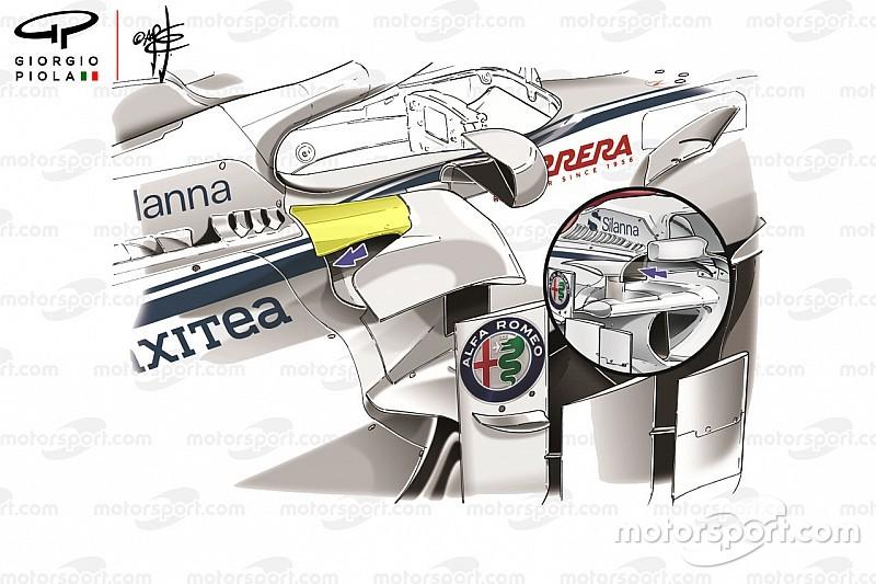 Sauber: più raffreddamento e carico aerodinamico per la C37