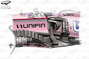Formule 1 Analyse Tech analyse: Waarom Force India in Mexico voor het podium kon gaan