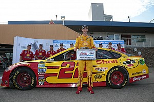 NASCAR Cup Qualifying report Logano edges Johnson for Michigan pole