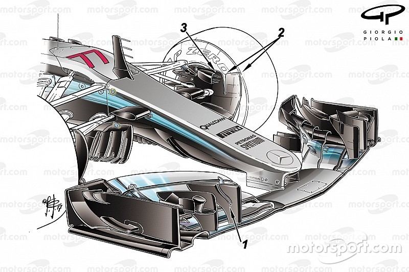 Tech analysis: Mercedes bare its teeth ahead of the season opener