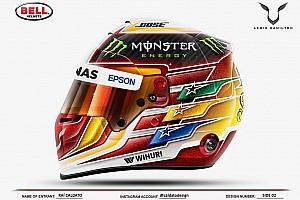 Hamilton escolhe layout feito por brasileiro para novo casco