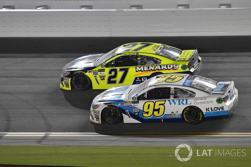 Michael McDowell, Leavine Family Racing Chevrolet, Paul Menard, Richard Childress Racing Chevrolet