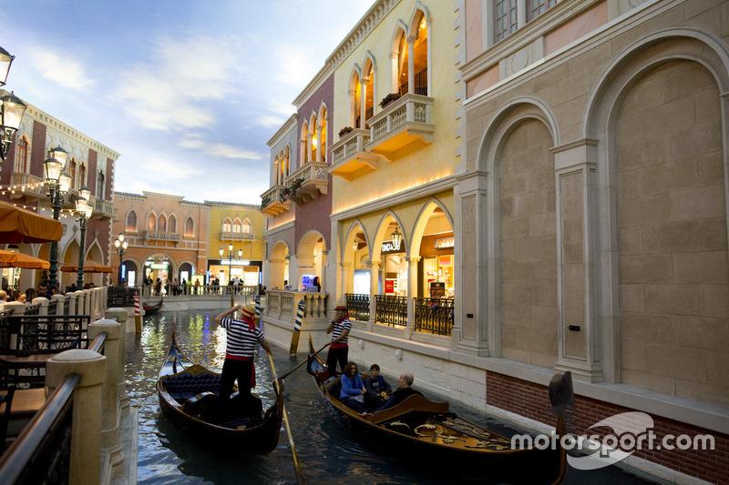 Góndolas en el Canal de Grand de Las Vegas
