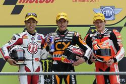 Podyum: 2. Yuki Takahashi, 1. Marc Marquez, 3. Stefan Bradl