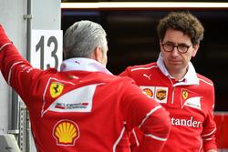Maurizio Arrivabene, Team Principal Ferrari e Mattia Binotto, Chief Technical Officer Ferrari