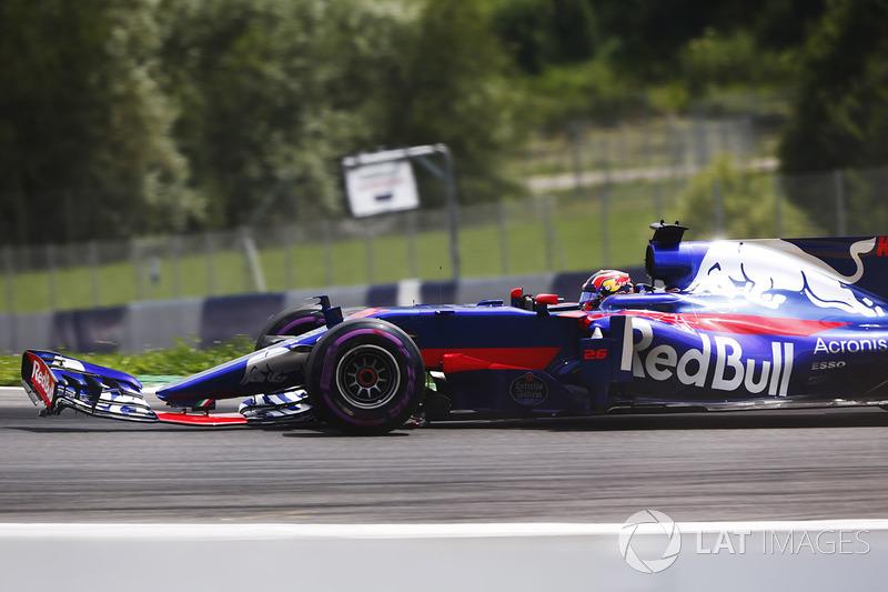 Данііл Квят, Scuderia Toro Rosso STR12, зламане переднє антикрило