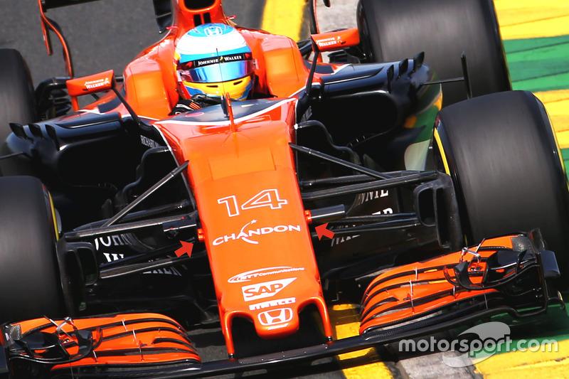 McLaren MCL32, soportes de la cámara