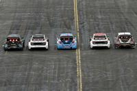 Guy Wilks, Loco World RX Team, VW Polo; Reinis Nitiss, EKS, Audi S1 EKS RX Quattro; Jean-Baptiste Dubourg, DA Racing, Peugeot 208; Toomas Heikkinen, EKS, Audi S1 EKS RX Quattro; Martin Kaczmarski, Ford Fiesta
