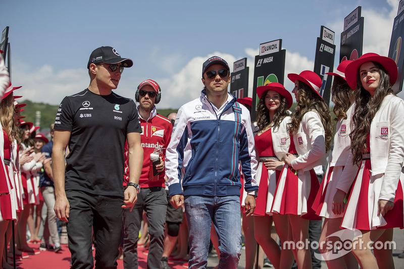 Valtteri Bottas, Mercedes AMG F1, Felipe Massa, Williams, Sebastian Vettel, Ferrari