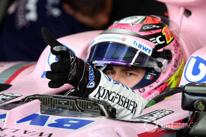 Un gant de Sergio Perez, Sahara Force India VJM10