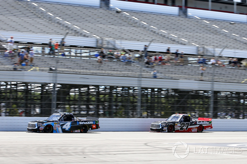 Christopher Bell, Kyle Busch Motorsports Toyota, Ben Rhodes, ThorSport Racing Toyota