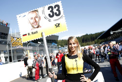 Grid girl de René Rast, Audi Sport Team Rosberg, Audi RS 5 DTM