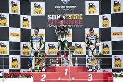 Podium: winner Loris Baz, Kawasaki Racing