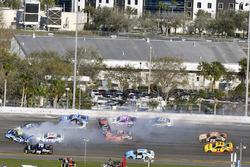 Jimmie Johnson, Hendrick Motorsports Chevrolet wrecks in turn 3