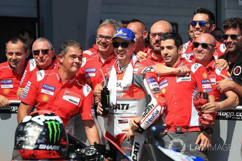 Tercer clasificado Jorge Lorenzo, Ducati Team