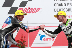 Podium: second place Marco Bezzecchi, Prustel GP, third place John McPhee, CIP Green Power