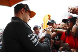 Stoffel Vandoorne, McLaren, firma autógrafos