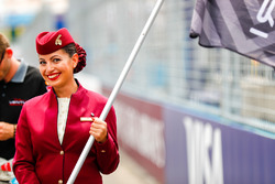 Qatar grid stewardess