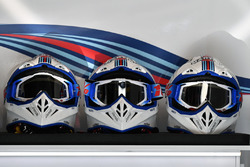 Williams mechanics helmets
