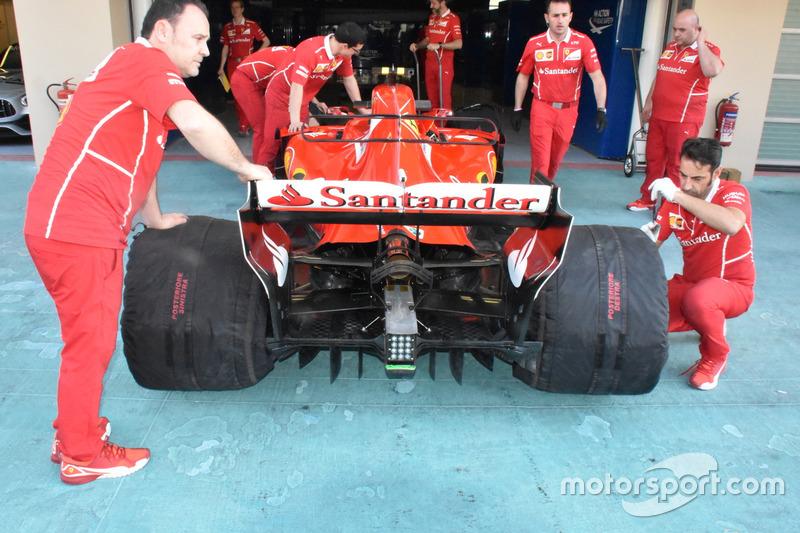 Ferrari SF70H, il nuovo diffusore posteriore di Raikkonen