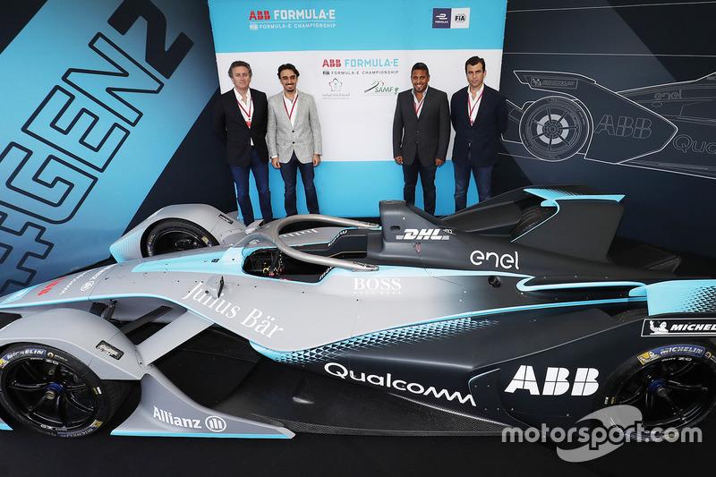 Pendiri Formula E, Alejandro Agag, Pangeran Abdulaziz bin Turki Al Faisal Al Saud, Pangeran Khaled Bin Sultan Bin Abdullah AlFaisal serta Co-founder & Deputy CEO Formula E, Alberto Longo