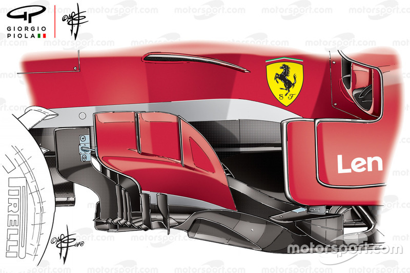 Ferrari SF71H barge board