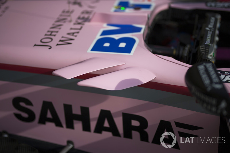 Sahara Force India VJM10 aero detayı