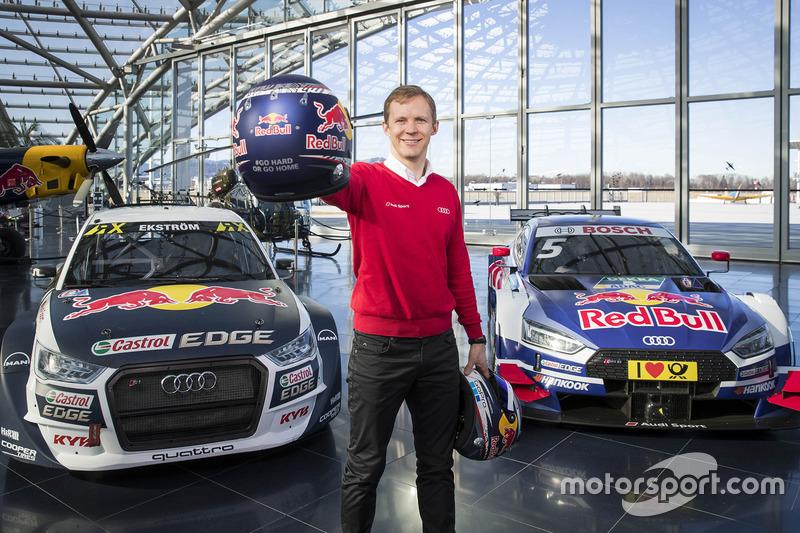 Mattias Ekström with the EKS Audi S1 quattro WRX and the Audi RS5 DTM