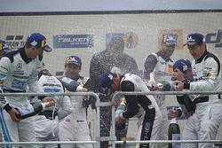 Podium: Champagne shower