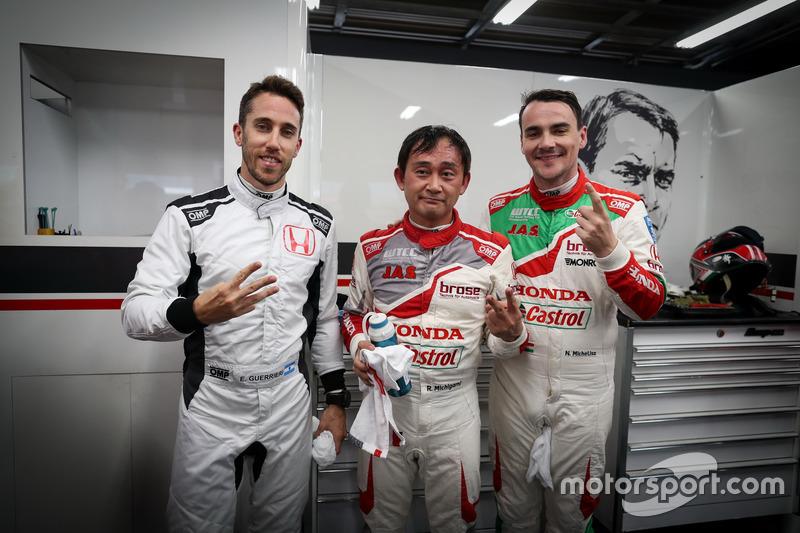 Esteban Guerrieri, Honda Racing Team JAS, Honda Civic WTCC, Ryo Michigami, Honda Racing Team JAS, Honda Civic WTCC , Norbert Michelisz, Honda Racing Team JAS, Honda Civic WTCC