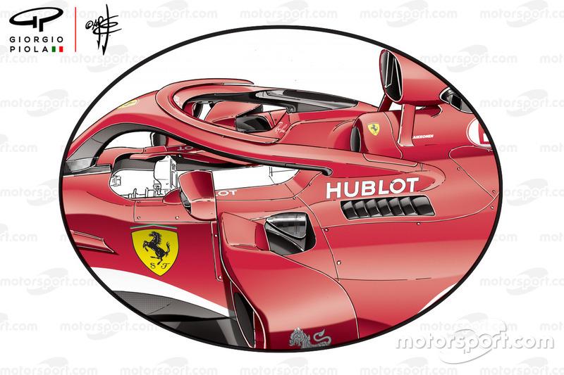 Бічні понтони на Ferrari SF71H під час ГП Австралії