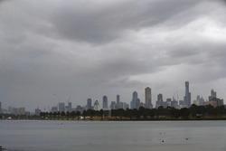 Le ciel nuageux de Melbourne