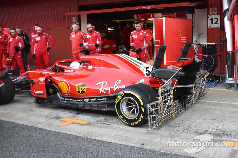 Ferrari SF71H: Sensoren
