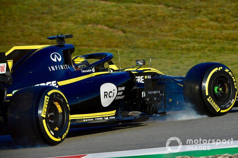 Ніко Хюлькенберг, Renault Sport F1 Team R.S. 19, розвернув болід