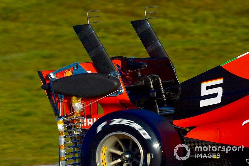 Sebastian Vettel, Ferrari SF90, avec des équipements de mesure