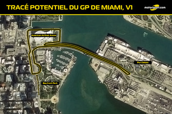 Tracé probable du GP de Miami V1
